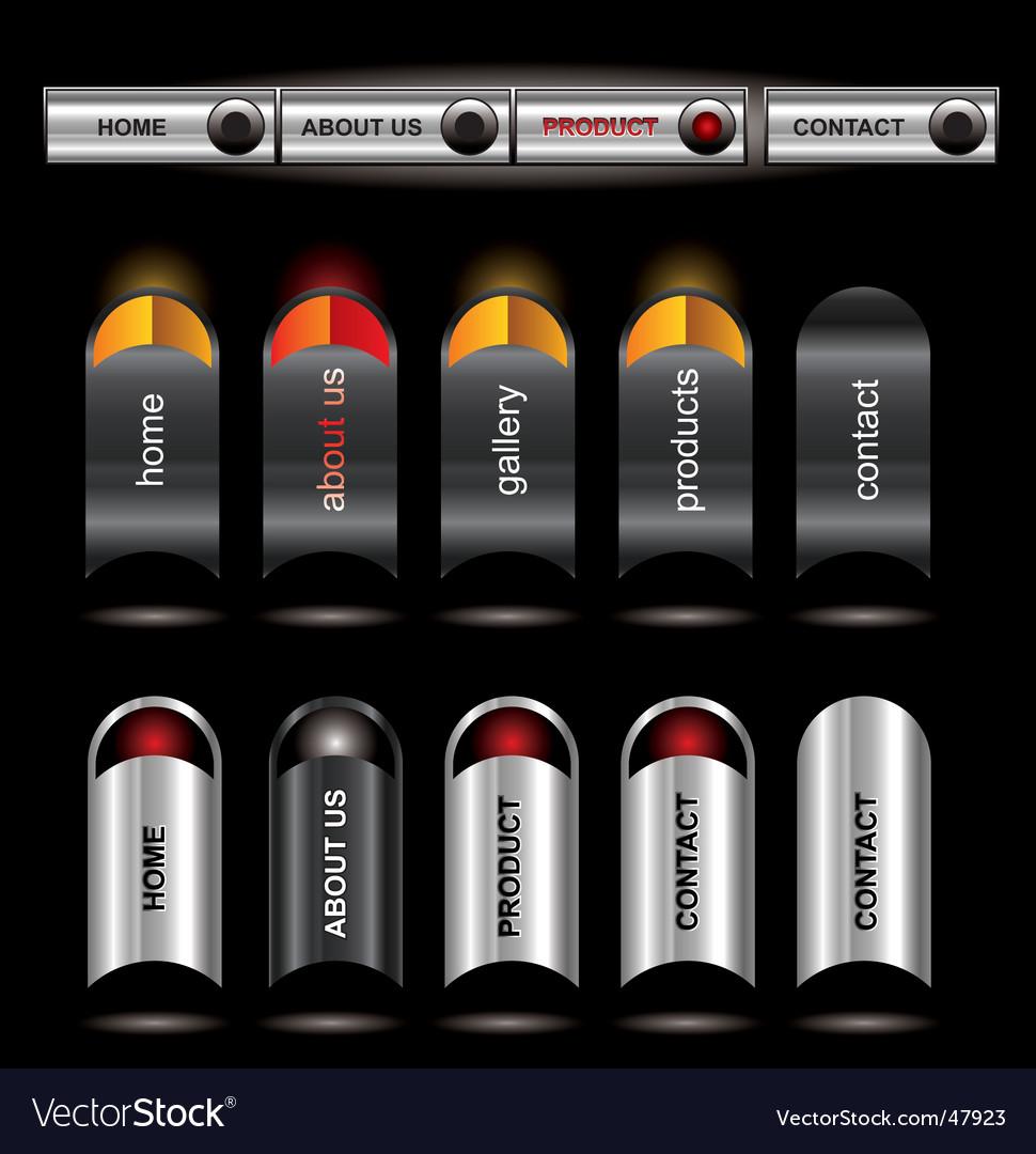 Metallic editable website buttons vector   Price: 1 Credit (USD $1)