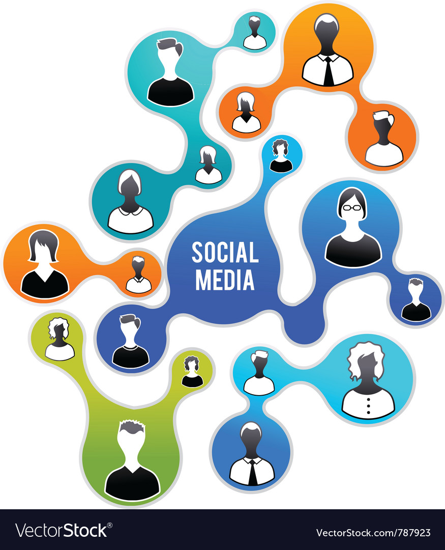 Social media and network vector | Price: 1 Credit (USD $1)