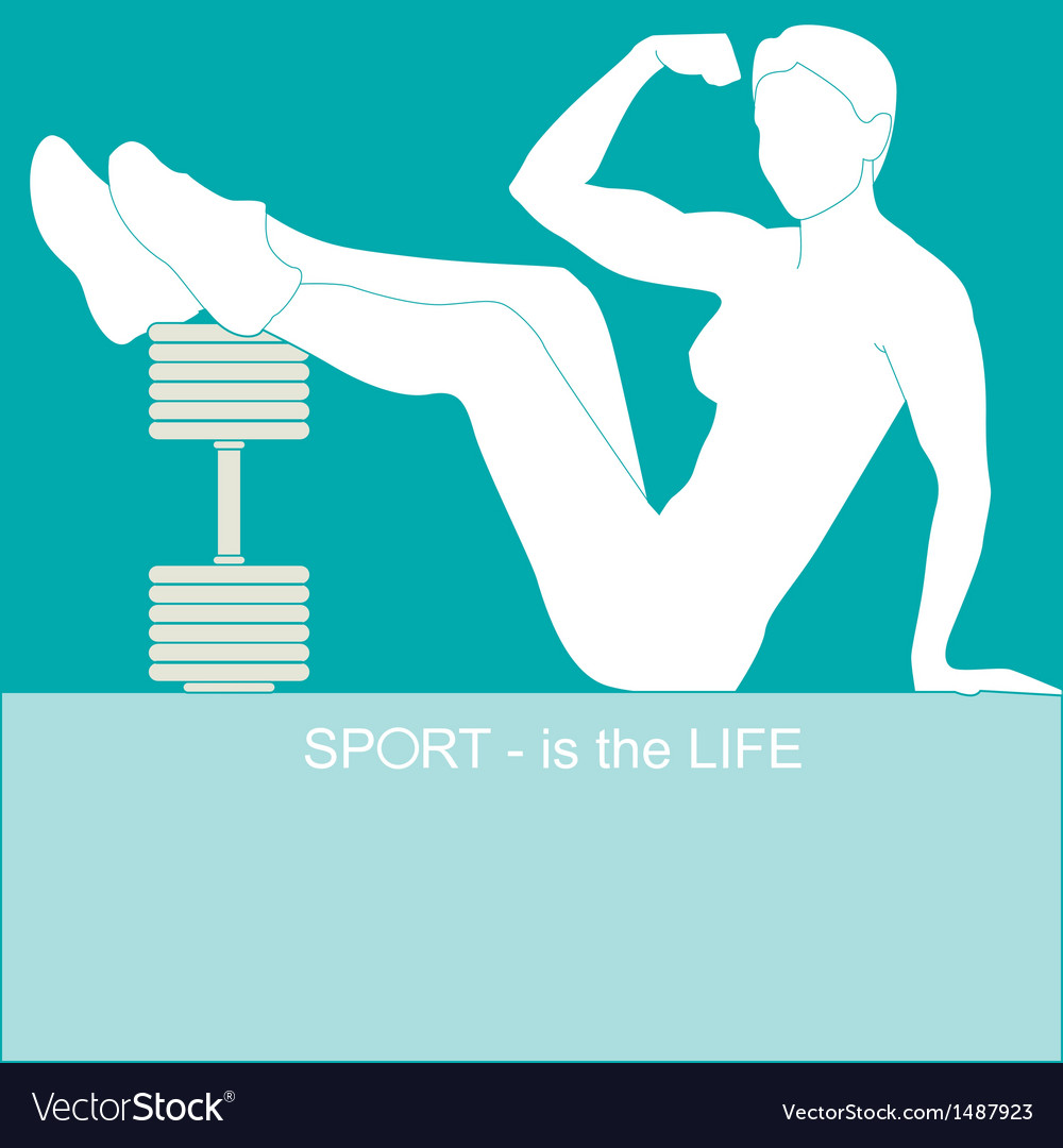 Sport - is the life vector | Price: 1 Credit (USD $1)