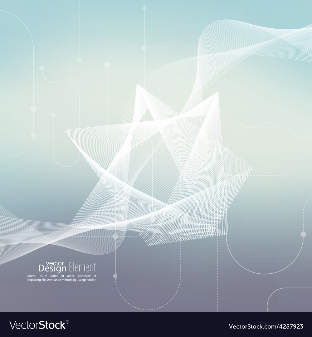 Techno abstract background with soft lines vector | Price: 1 Credit (USD $1)