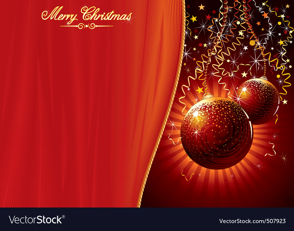 Template for chrismas card vector | Price: 1 Credit (USD $1)