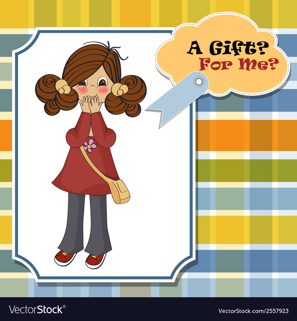 Young girl surprised vector   Price: 1 Credit (USD $1)