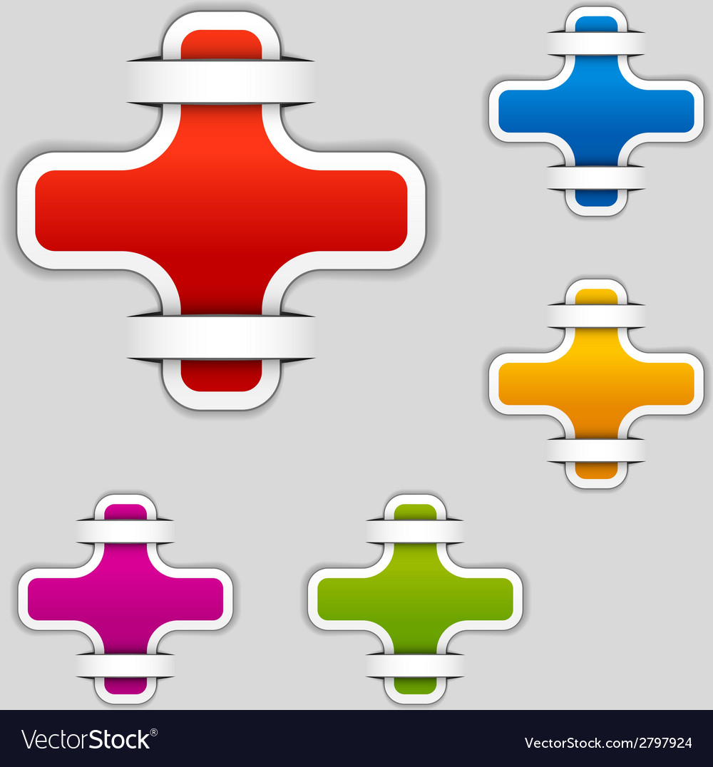 Blank attached cross labels vector | Price: 1 Credit (USD $1)