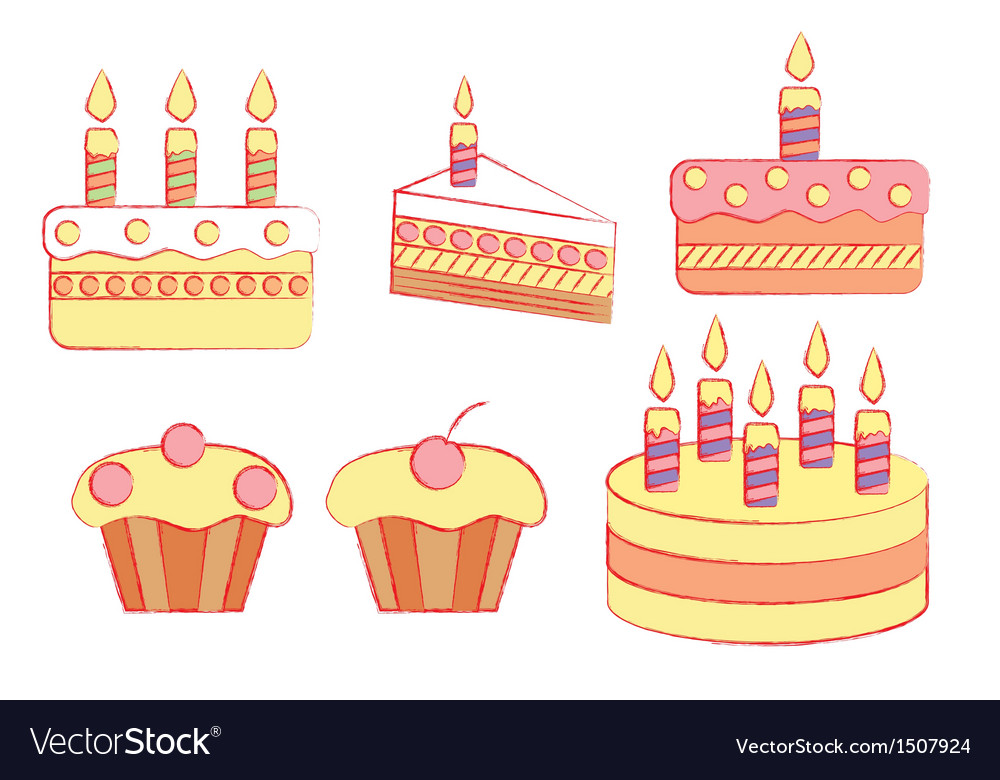 Holiday cakes vector | Price: 1 Credit (USD $1)