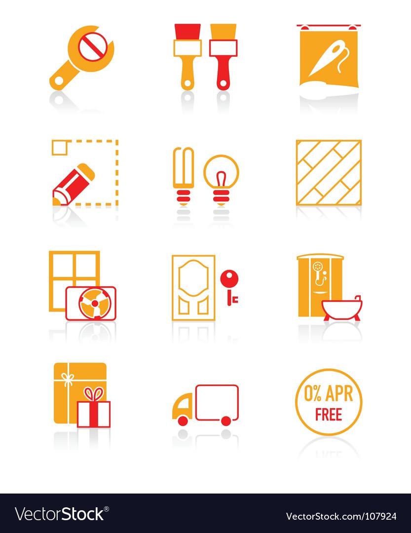 Home repair icons vector | Price: 1 Credit (USD $1)