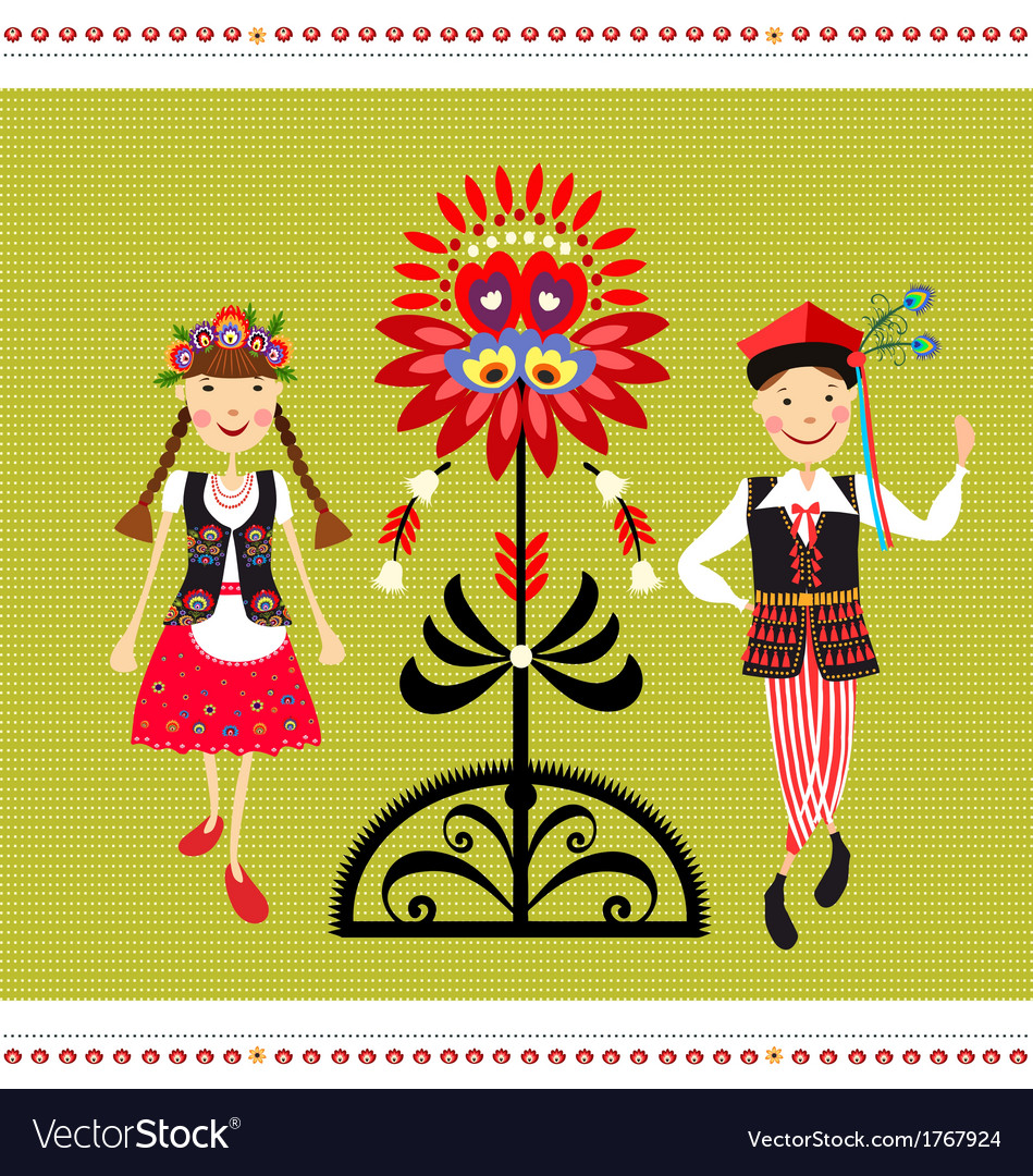 Polish folk costume vector | Price: 1 Credit (USD $1)