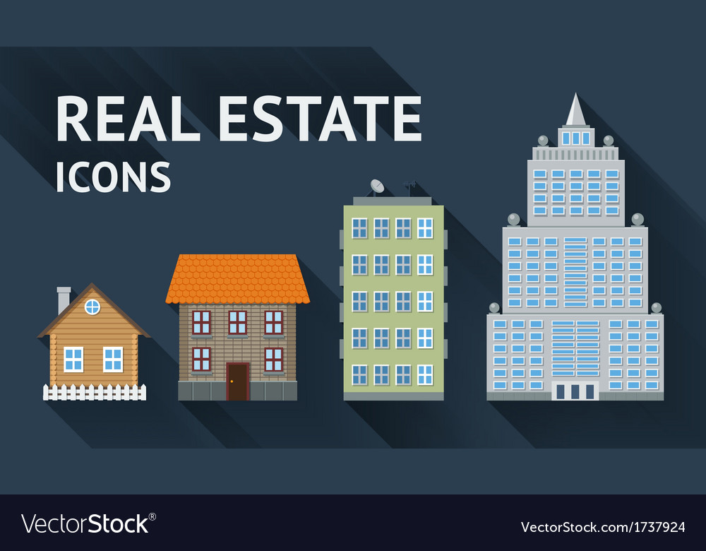 Real estate icons set vector | Price: 1 Credit (USD $1)