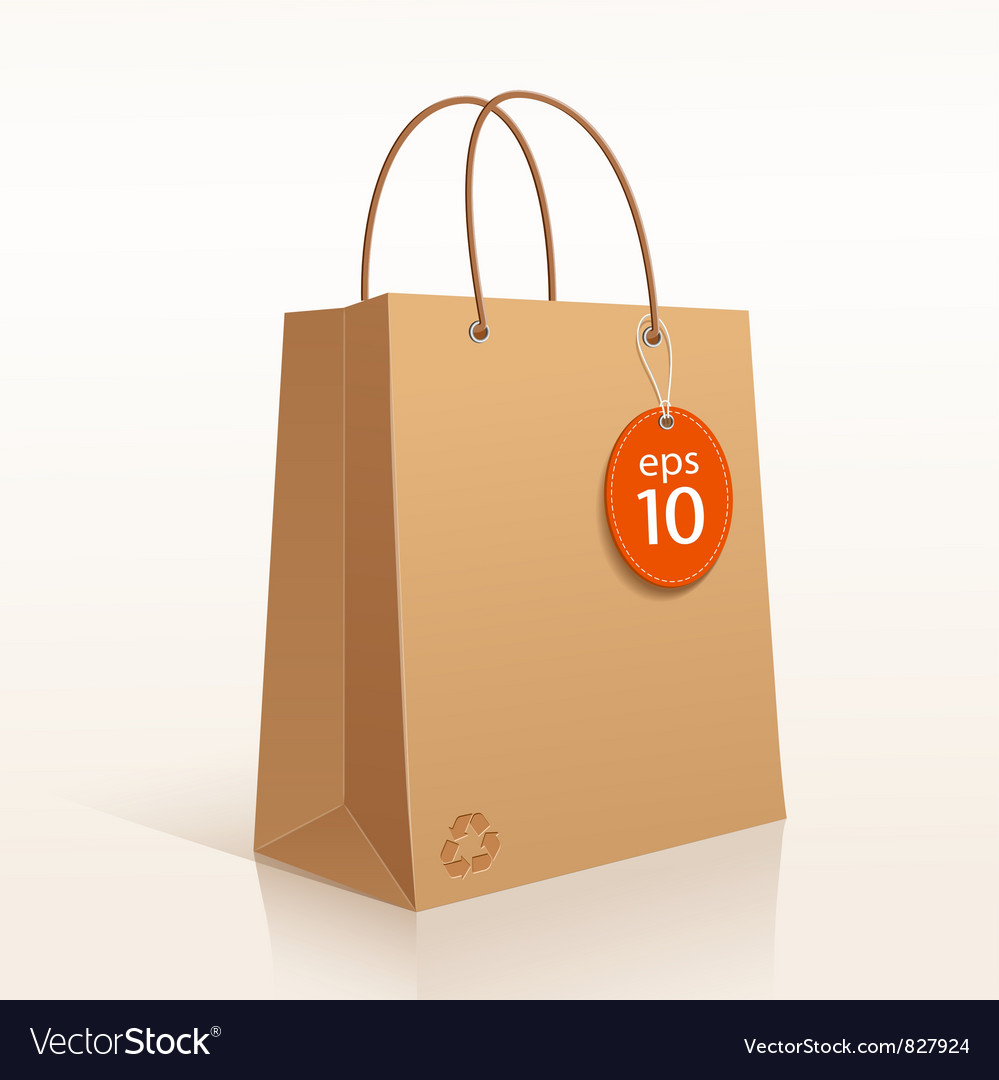 Recycle brown bag vector | Price: 3 Credit (USD $3)