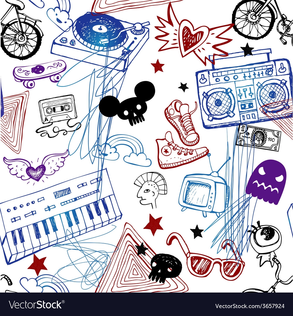 Seamless music background vector | Price: 1 Credit (USD $1)