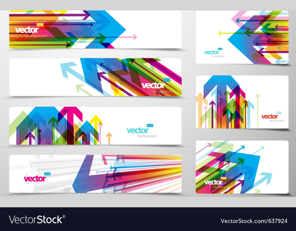 Set of gift cards and banners with arrows vector | Price: 1 Credit (USD $1)
