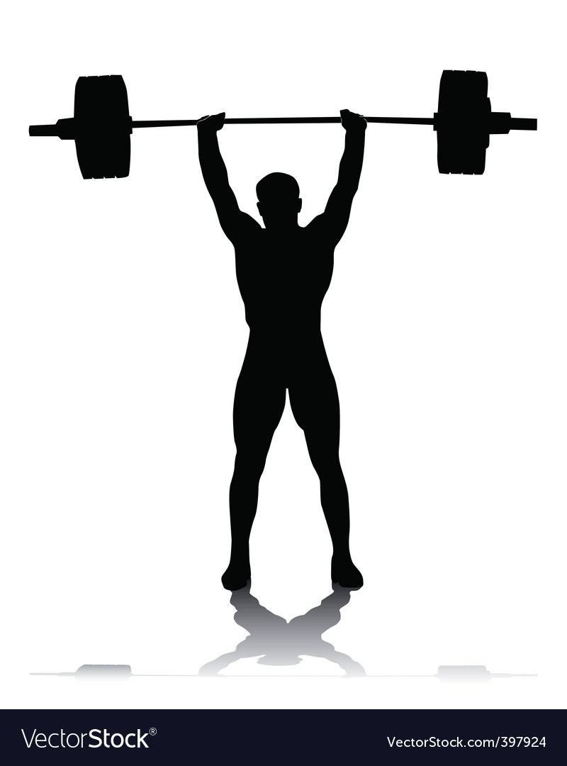 Silhouette of the weightlifter vector | Price: 1 Credit (USD $1)
