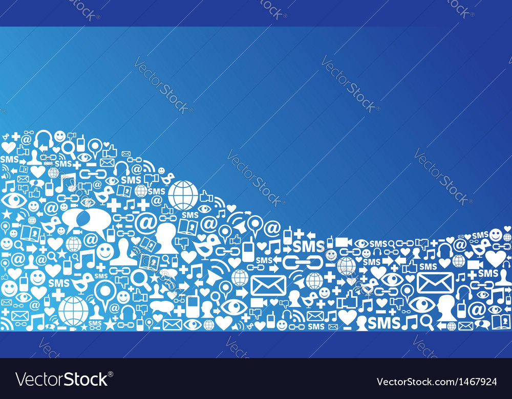 Social media icon background vector | Price: 1 Credit (USD $1)