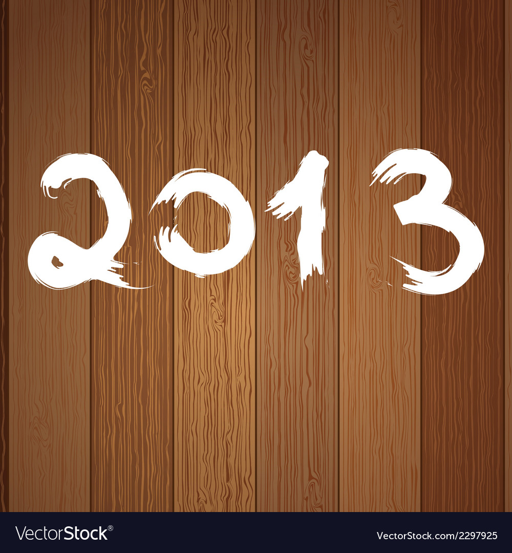 2013 year white on wood  eps8 vector | Price: 1 Credit (USD $1)