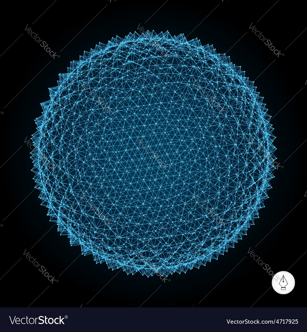 3d sphere with prickles abstract geometric object vector | Price: 1 Credit (USD $1)
