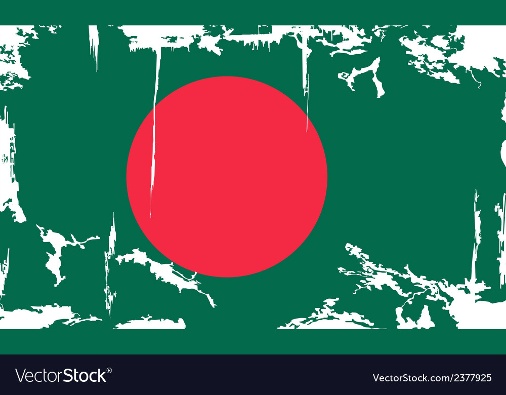Bangladesh grunge flag vector | Price: 1 Credit (USD $1)
