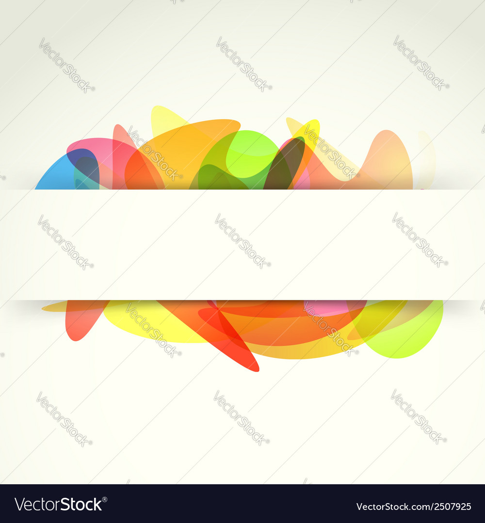 Bright colorful abstract background template vector | Price: 1 Credit (USD $1)