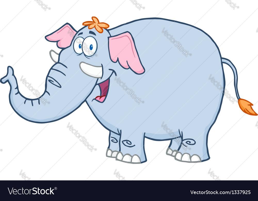 Elephant cartoon mascot character vector | Price: 1 Credit (USD $1)