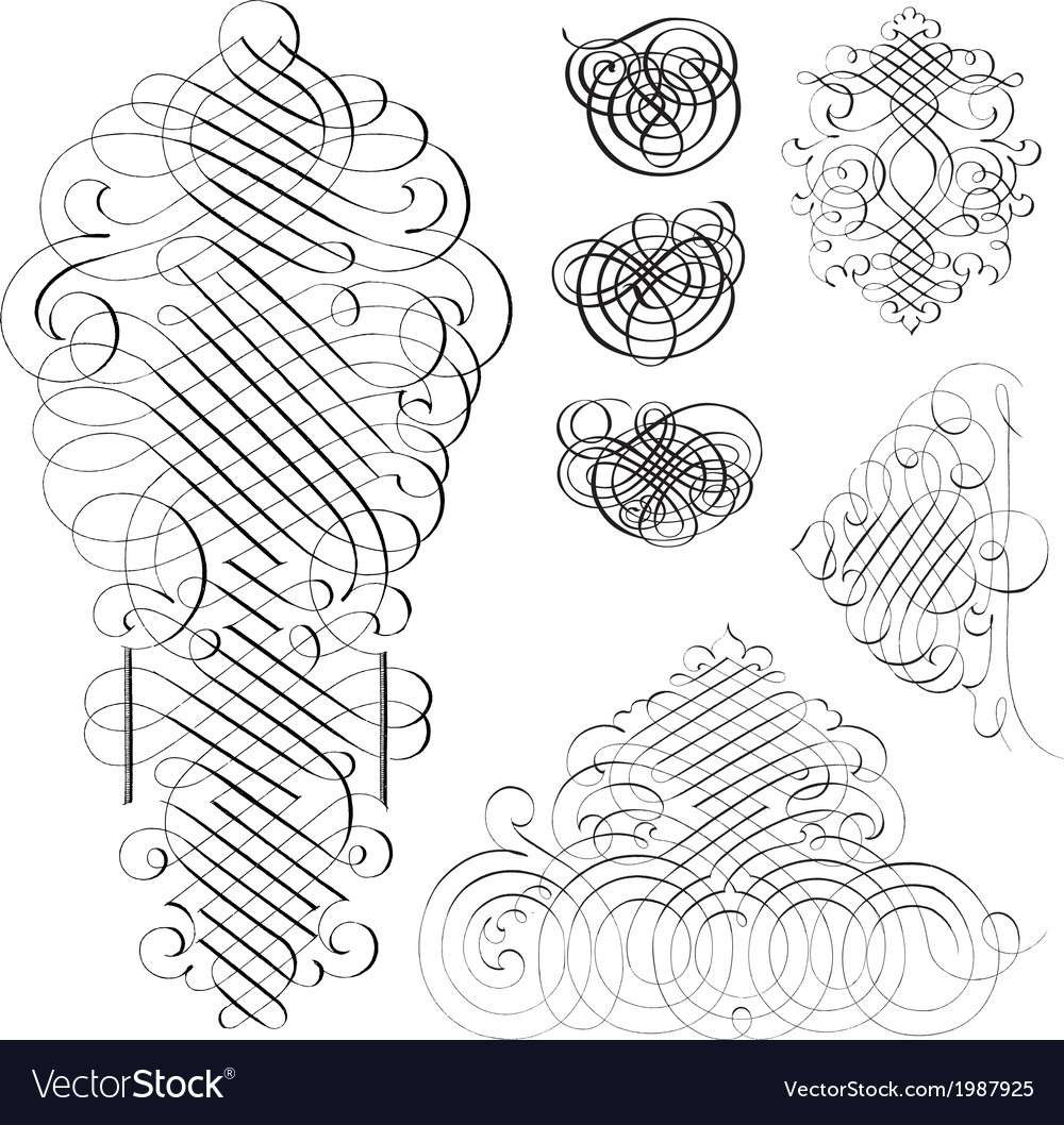 Fancy design elements vector | Price: 1 Credit (USD $1)