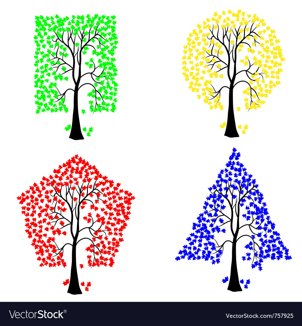 Geometric shape tree vector | Price: 1 Credit (USD $1)