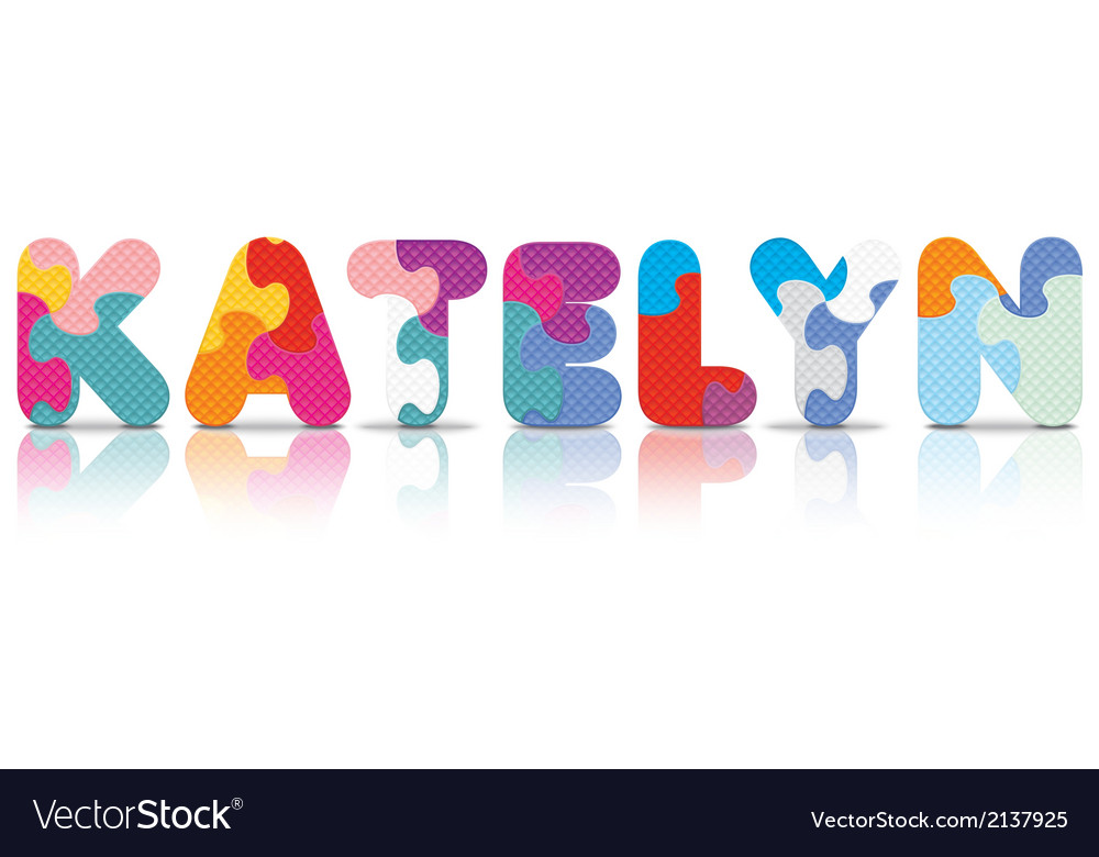 Katelyn written with alphabet puzzle vector | Price: 1 Credit (USD $1)