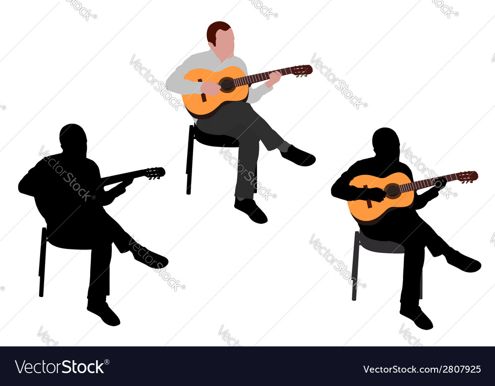 Man playing guitar vector | Price: 1 Credit (USD $1)