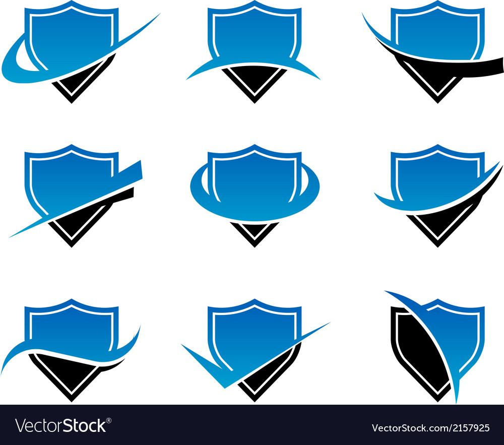 Shield logo icons vector | Price: 1 Credit (USD $1)