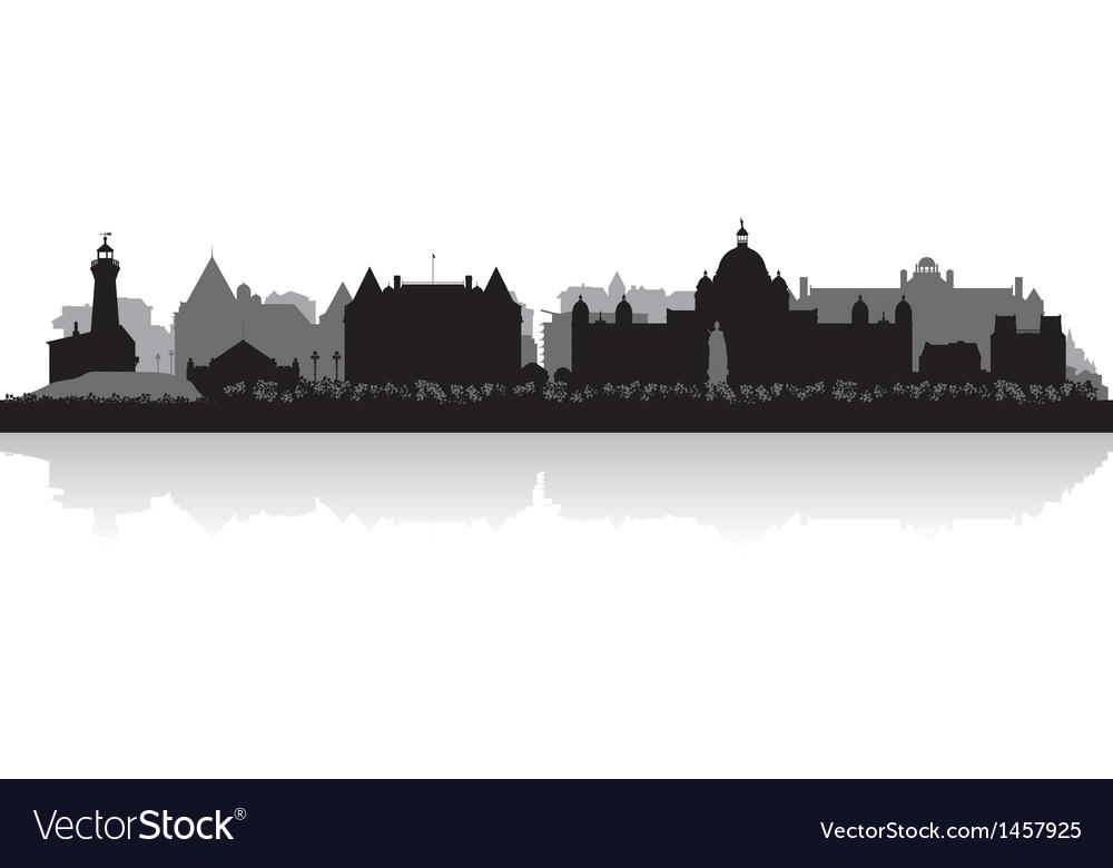 Victoria canada city skyline silhouette vector | Price: 1 Credit (USD $1)