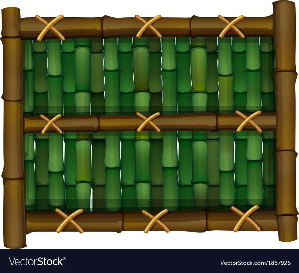 A fence made of bamboo vector | Price: 1 Credit (USD $1)