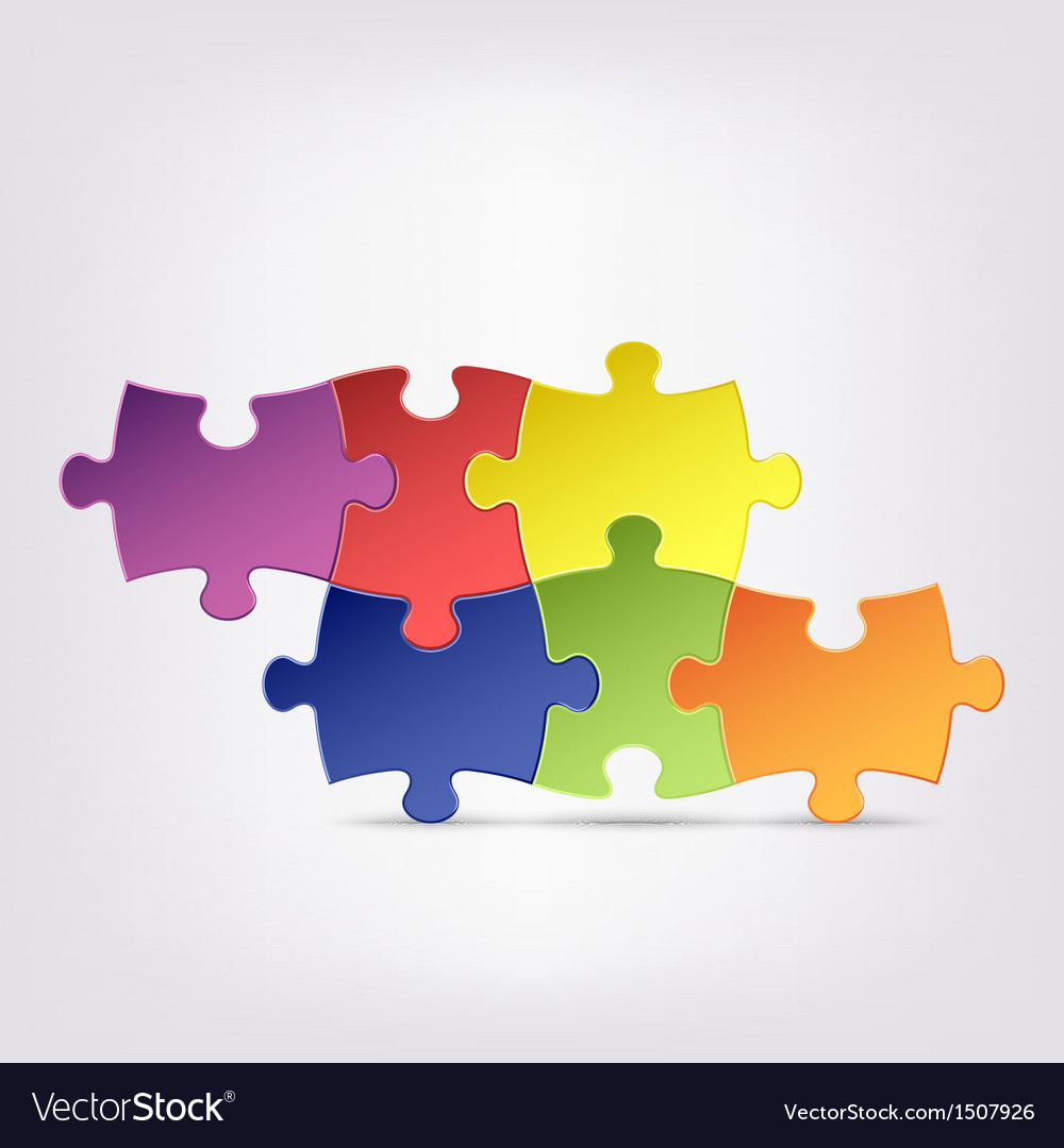 Abstract colored group puzzle background vector | Price: 1 Credit (USD $1)