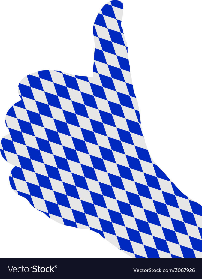Bavarian finger signal vector | Price: 1 Credit (USD $1)