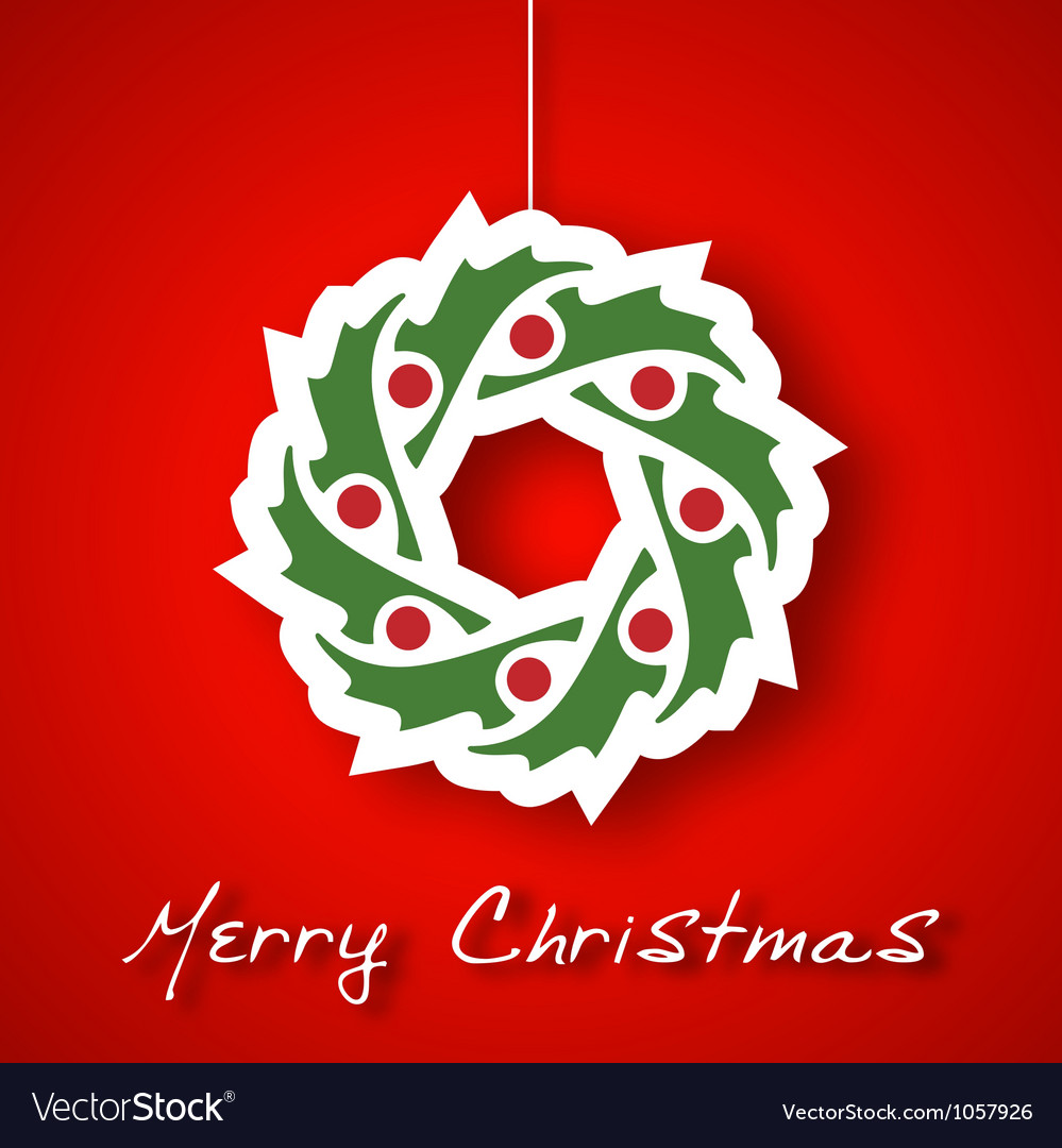 Christmas garland applique vector | Price: 1 Credit (USD $1)