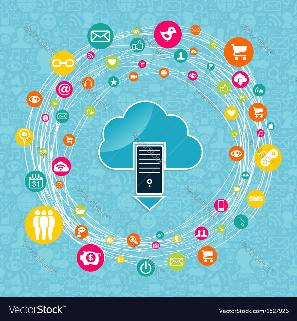 Cloud computing network idea vector | Price: 1 Credit (USD $1)
