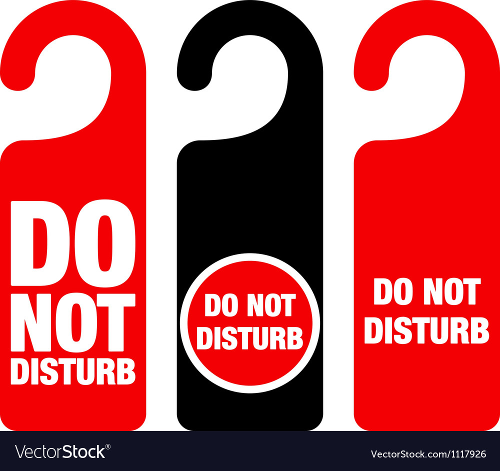 Do not disturb sign vector | Price: 1 Credit (USD $1)
