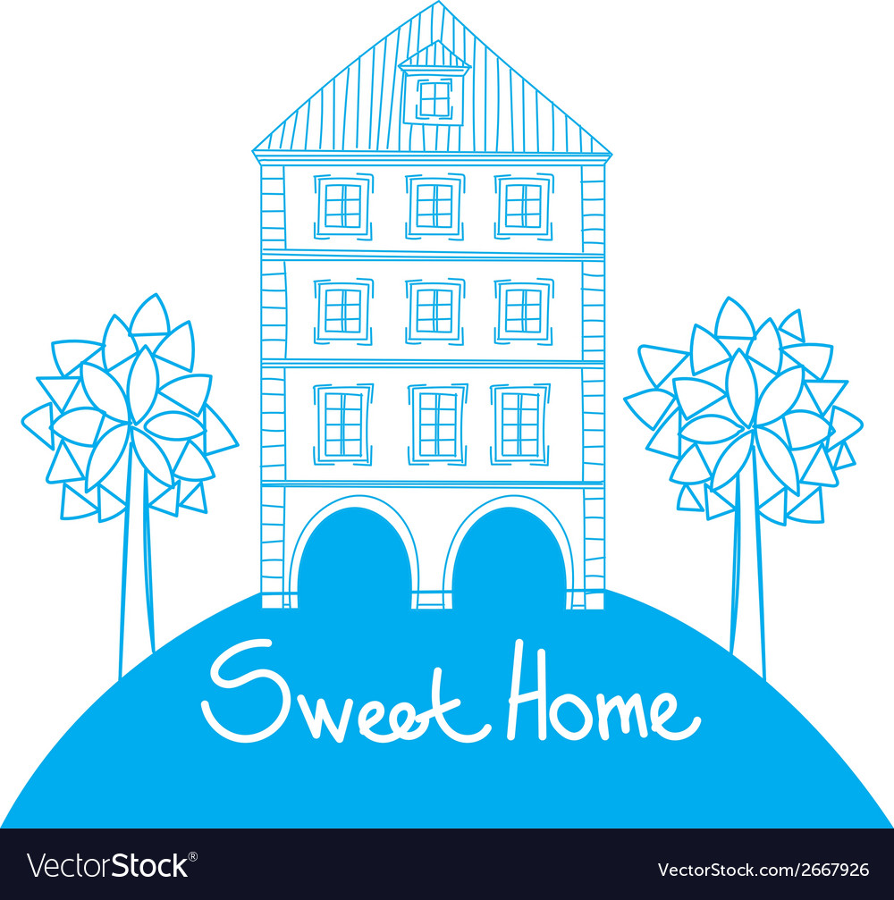 Doodle style house vector | Price: 1 Credit (USD $1)
