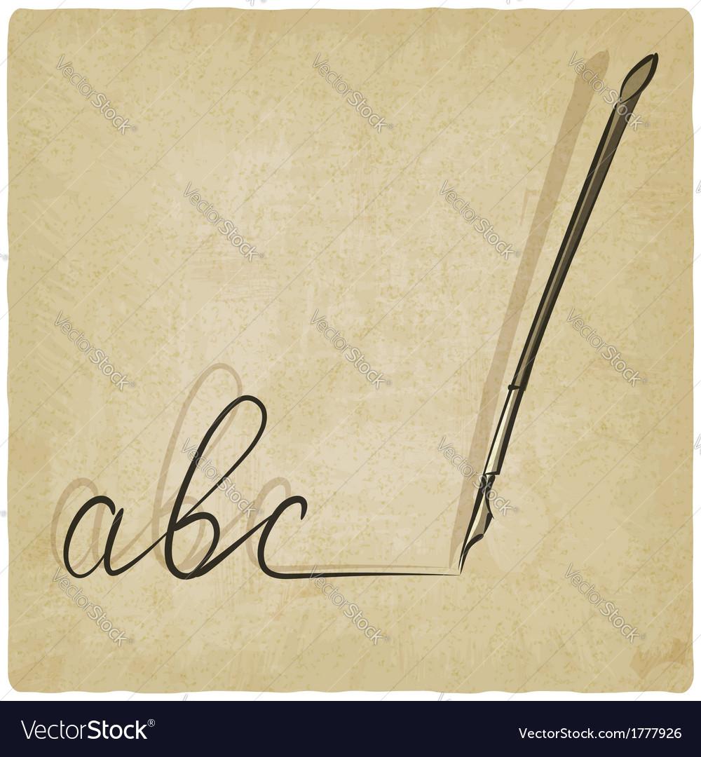 Fountain pen sketch vector