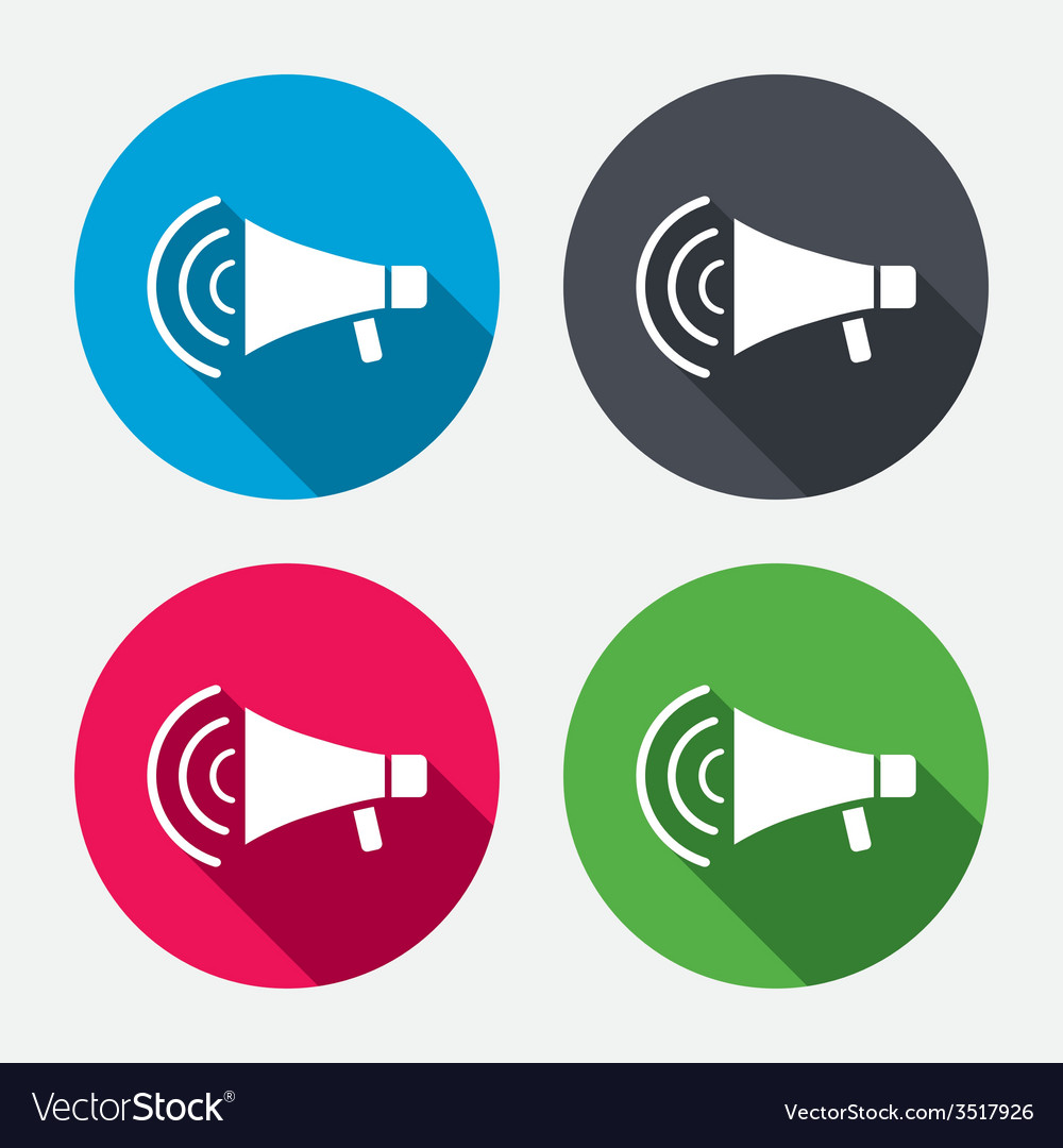 Megaphone sign icon loudspeaker strike symbol vector | Price: 1 Credit (USD $1)