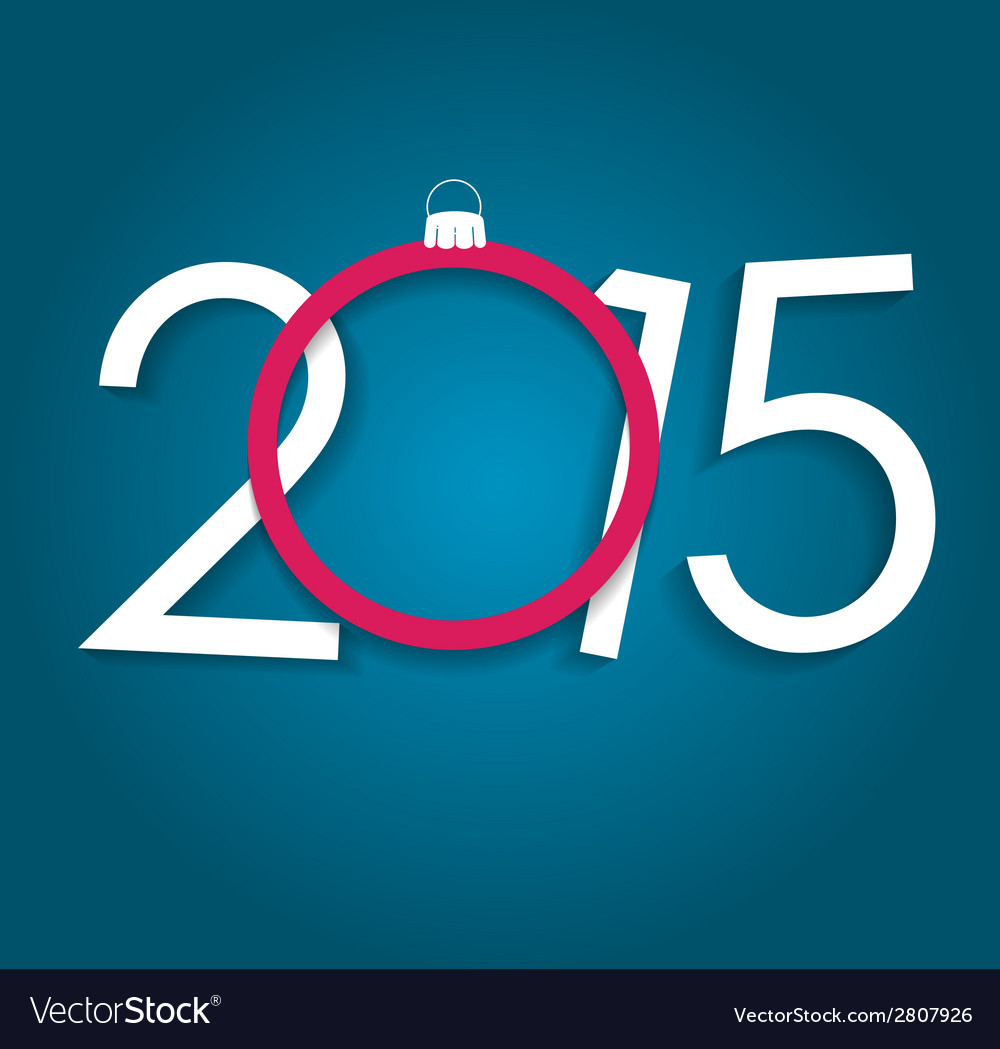 New year 2015 christmas background vector | Price: 1 Credit (USD $1)