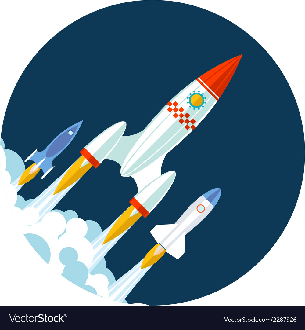 Rocket icons start up and launch symbol for new vector | Price: 1 Credit (USD $1)