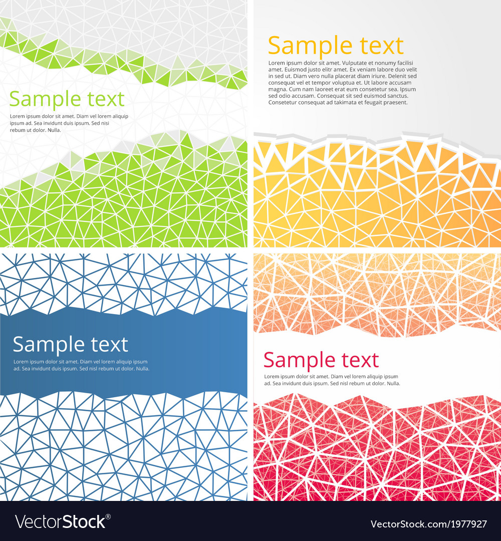 Abstract backgrounds with triangles vector | Price: 1 Credit (USD $1)