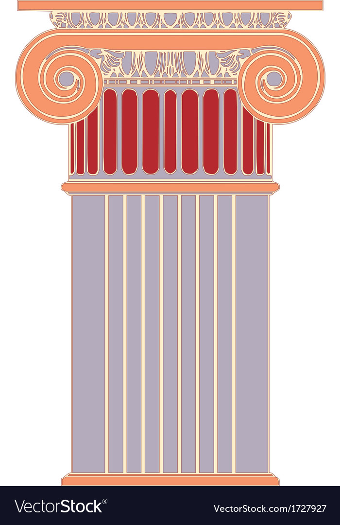 Antique column pillar vector | Price: 1 Credit (USD $1)