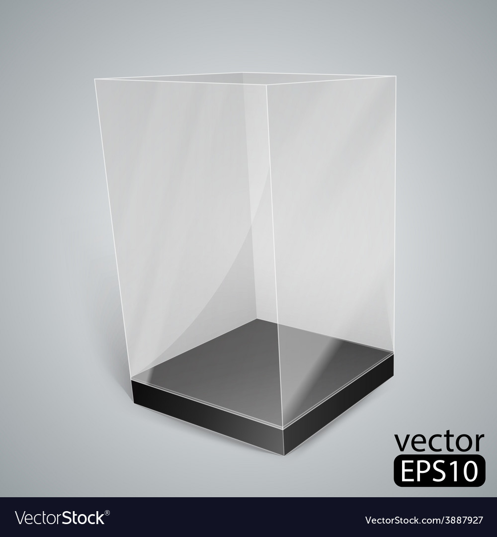 Black glass rectangle box vector | Price: 1 Credit (USD $1)