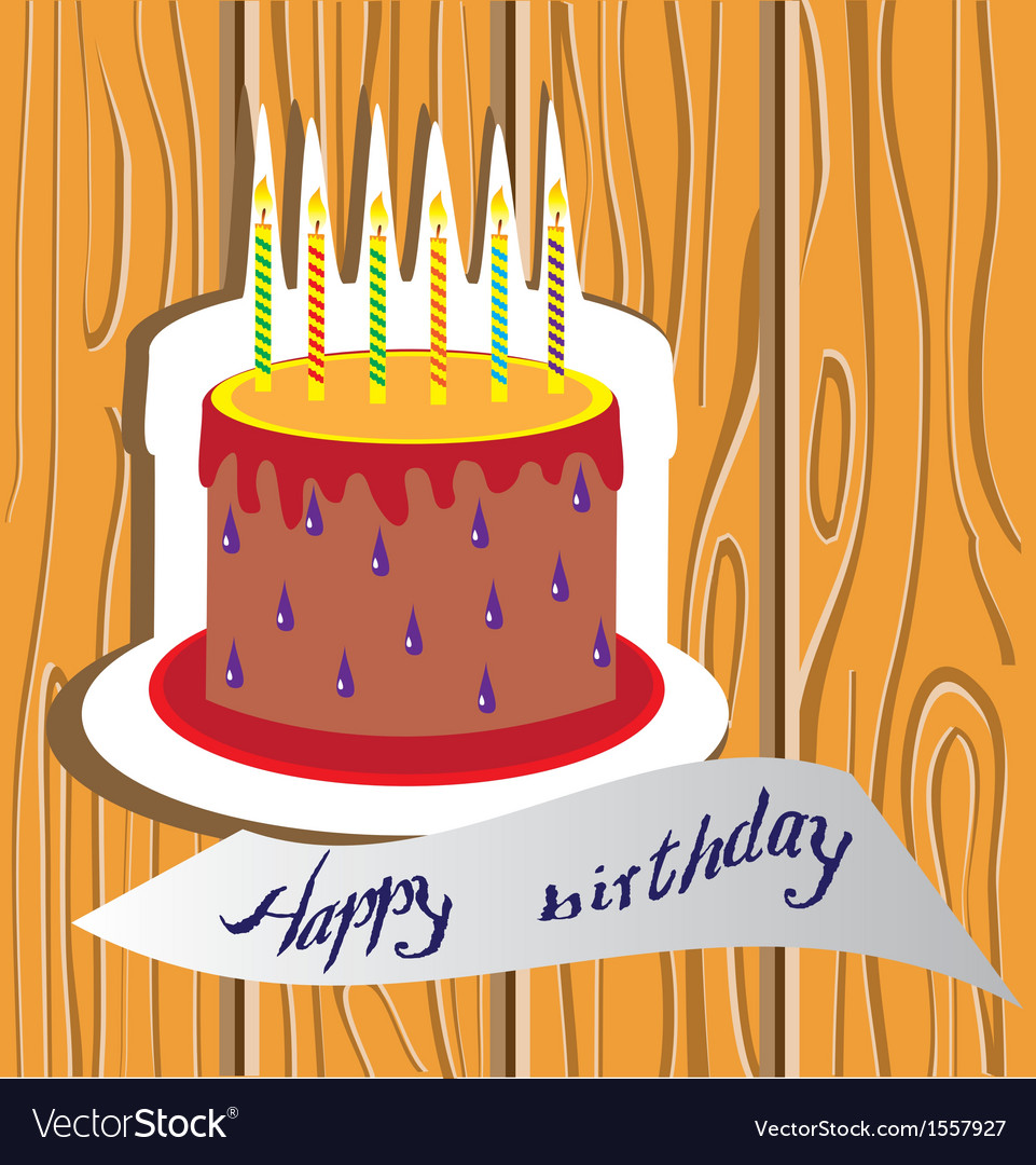 Candle cake vector | Price: 1 Credit (USD $1)