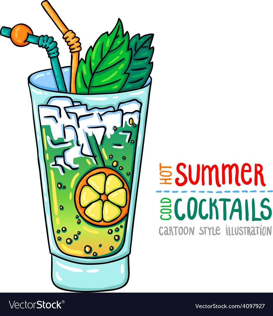 Cocktails one cartoon 10 vector | Price: 1 Credit (USD $1)