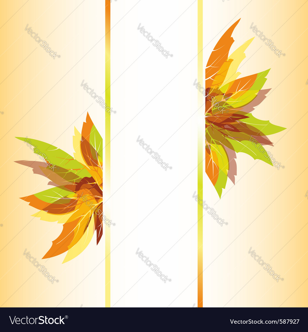 Colorful autumn leaves vector | Price:  Credit (USD $)