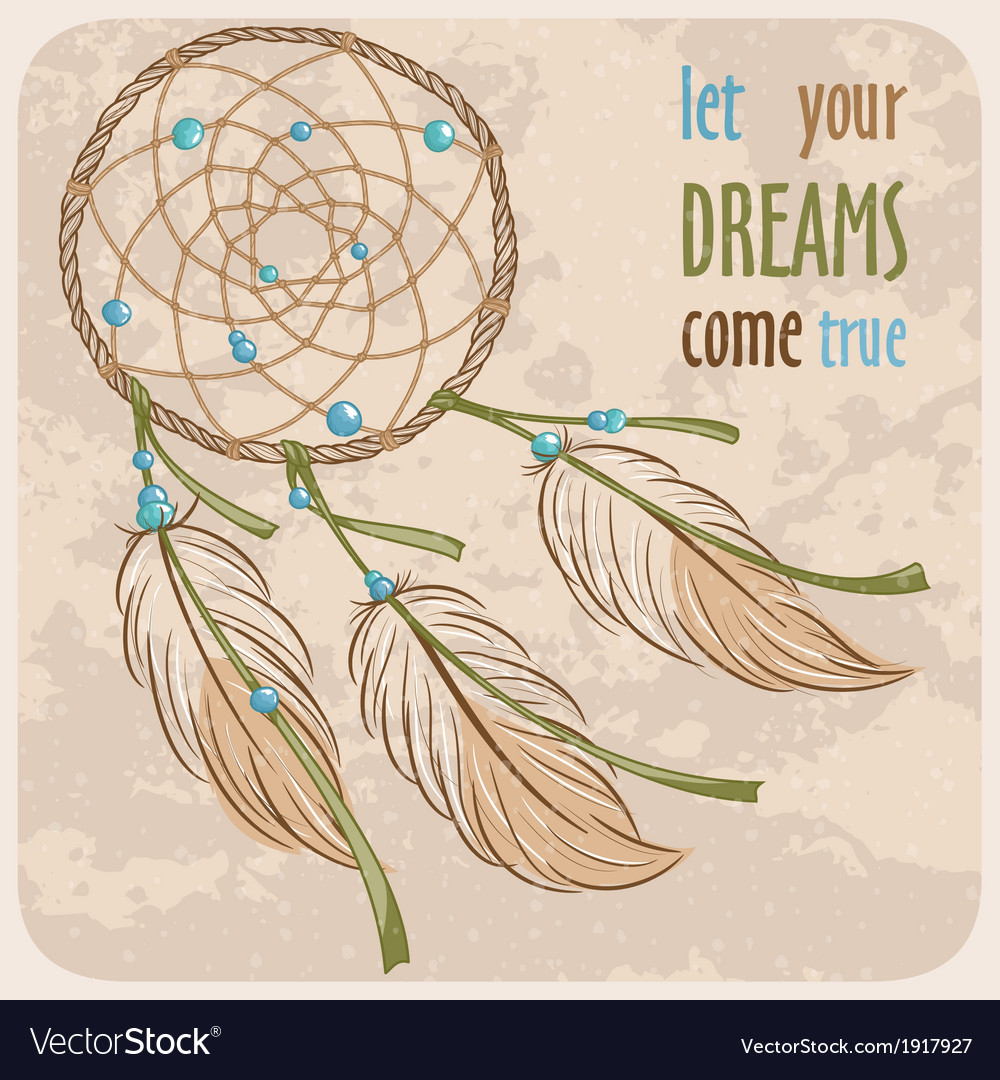 Dreamcatcher card vector | Price: 1 Credit (USD $1)