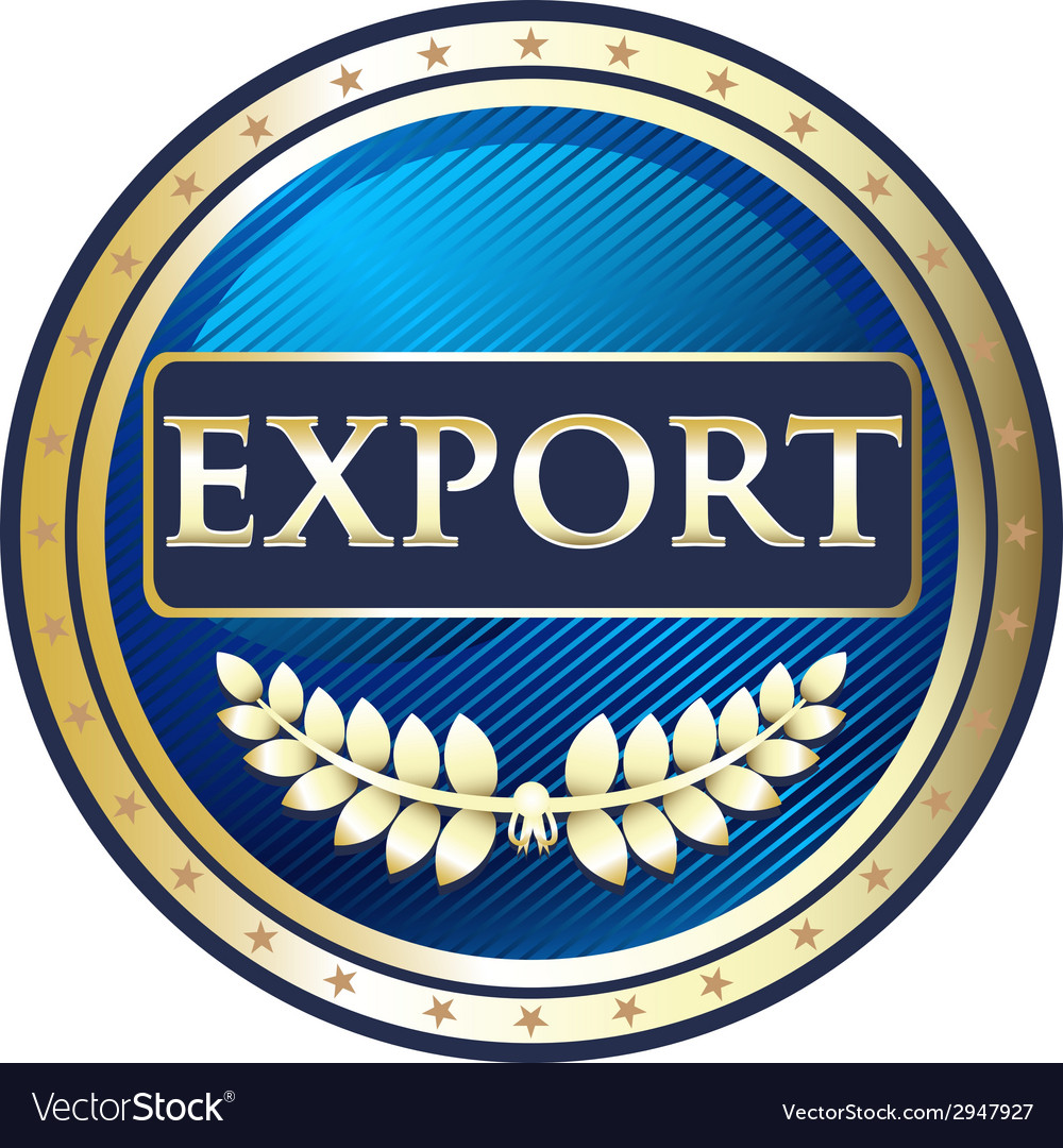 Export gold label vector | Price: 1 Credit (USD $1)