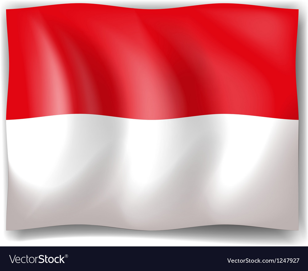 Flag of indonesia vector | Price: 1 Credit (USD $1)
