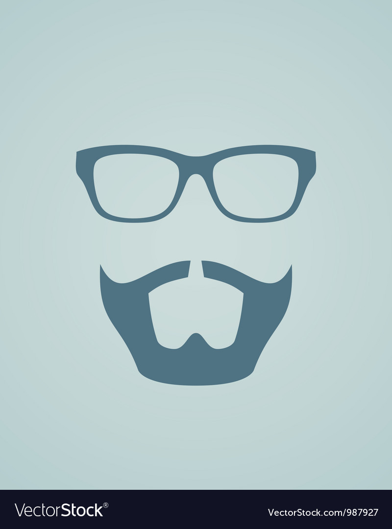 Glasses and beard vector | Price: 1 Credit (USD $1)