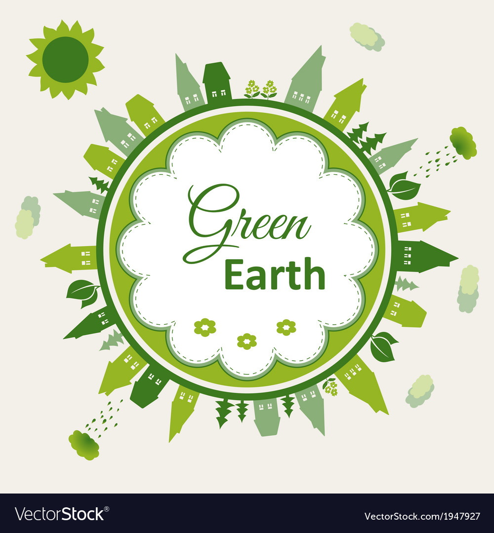 Green earth concept vector | Price: 1 Credit (USD $1)