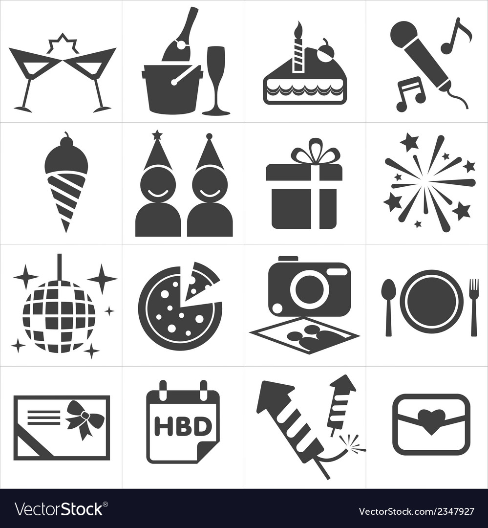 Icon party celebrate vector | Price: 1 Credit (USD $1)